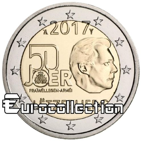 2 euro Luxembourg 2017 Service Militaire