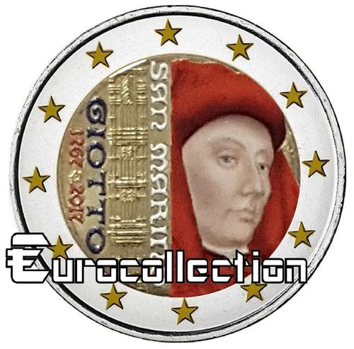 2 euro Saint Marin 2017 Giotto couleur 2