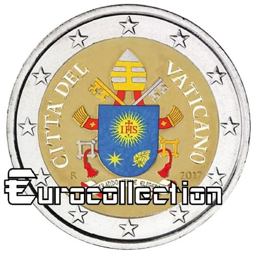 2 euro Vatican 2017 Armoiries couleur 1
